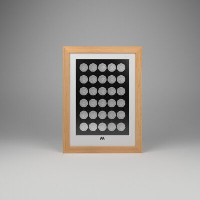 30 PocketFoam™ Slot Frame for Modern 50p Coins – A4 Portrait Display
