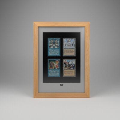 Magic The Gathering (MTG) TCG 4 Card Frame A4 Portrait Display