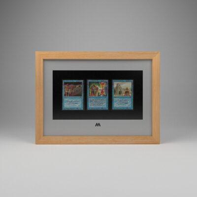 Magic The Gathering (MTG) TCG 3 Card Frame A4 Landscape Display
