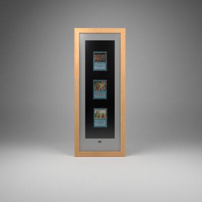 Magic The Gathering (MTG) 3 Card Frame 18cmx50cm Long Portrait Display
