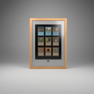 Magic The Gathering (MTG) TCG 9 Card Frame A3 Portrait Display