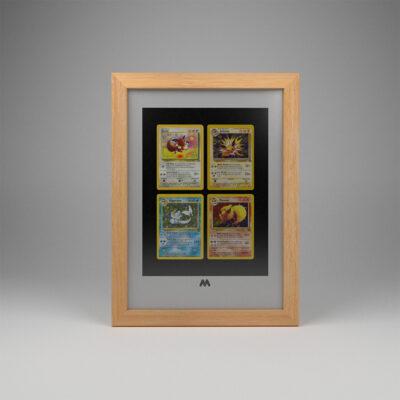 Pokémon 4 Card Frame A4 Portrait Display