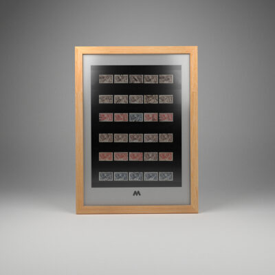 Stamps 40mm XL 7 Condensed Stock Frame A3 Portrait Display