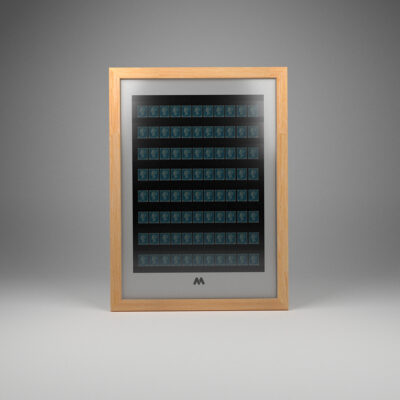 Stamps 30mm 8 Stock Frame A3 Portrait Display