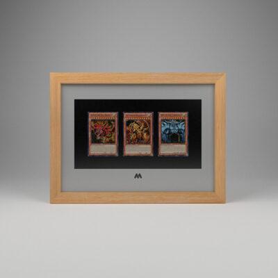 Yu-Gi-Oh! 3 Card Frame A4 Landscape Display